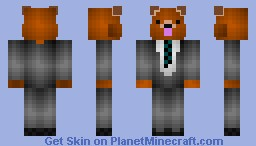 My skin-Shaded bear in suit(EVEN BETTER) Minecraft Skin
