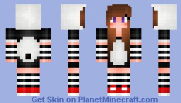 Panda girl - requested by The_Girls_Got_swag Minecraft Skin