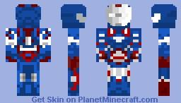Iron Patriot (Iron Man 3) Minecraft Skin