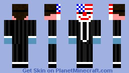 Dallas from payday Minecraft Skin