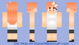 Peach Girl 。◕ω◕。 (New Shading Style!) Minecraft Skin