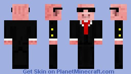Pig in a Suit Minecraft Skin