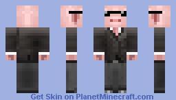 Pig In Black Minecraft Skin