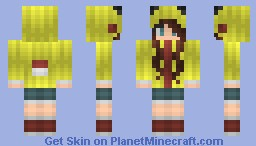 Request by 34pokemon_o3o-(kind of) Emo Pikachu Girl Minecraft Skin