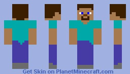 Plain Steve Minecraft Skin