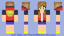 Trainer RED as a girl Minecraft Skin