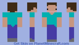 Poker Face Steve Minecraft Skin