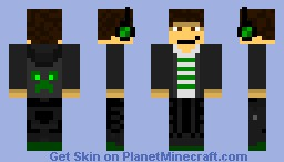Pomtapom New Green Minecraft Skin