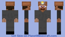 Poor Old Miner Steve Minecraft Skin