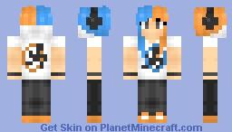 Portal Fan-girl Minecraft Skin