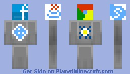 Program Logo Robot Minecraft Skin