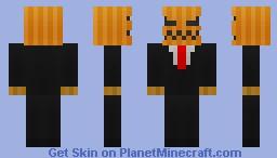 Pumpkin in suit (happy halloween!) Minecraft