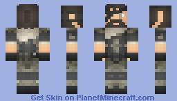 Metal Gear Solid V Phantom Pain Punished Snake Minecraft Skin