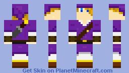 Purple Link Minecraft Skin