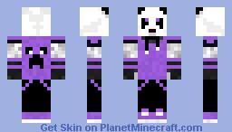 Purple Panda Minecraft Skin