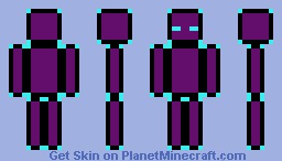 Purple Block Diamond encrusted enderman Minecraft Skin
