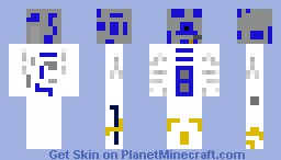 Possibly the ONLY R2-D2 skin ever!!!! Minecraft Skin
