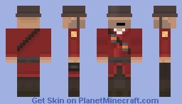 RED Soldier Minecraft Skin