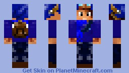 R.K Blue Explorer Minecraft Skin
