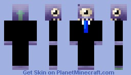 Alien in a Suit Minecraft Skin