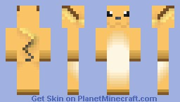 Raichu (Sparking!) Minecraft Skin