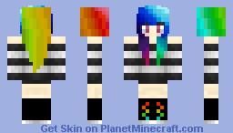 ~Satoru~ Rainbow Girl Minecraft Skin