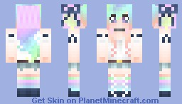 Northern Lights Girl Minecraft Skin