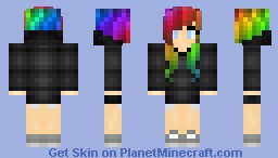 Rainbow Scene Girl [Contest Over] [1st Place!] Minecraft Skin