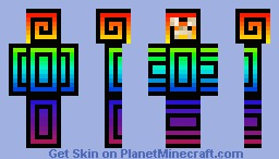Rainbow creeper skin Minecraft Skin