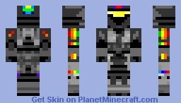 Rainbow Halo Recon Armor Minecraft Skin