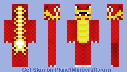 Red Chinese Dragon Minecraft Skin