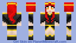 Red Princess Minecraft Skin