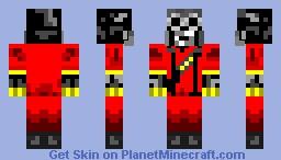 Red Pyro Minecraft Skin