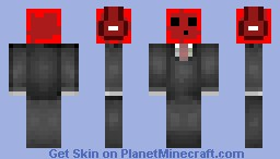 Red Slime In A Suit||Hd Suit Shading|| Minecraft Skin