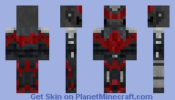 Red & Black Robot Minecraft Skin