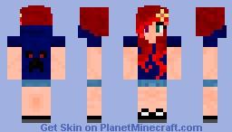 Redhead girl minecraft skin