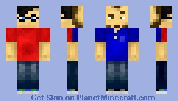 THE Mythical Beast! Rhett & Link!**Two Sided with 3D features!** (hair only look correct in preview) Minecraft Skin