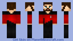 Commander William Riker Minecraft Skin