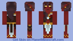 Tiefling Sorcerer  - Lilitel T'aah'ukin Minecraft Skin