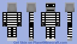 Robot Prisoner Minecraft Skin
