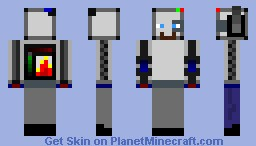 Robot steve. Minecraft Skin