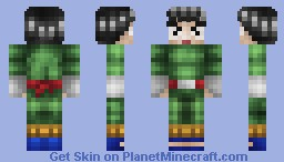 Rock Lee - Naruto Skin Series Minecraft Skin