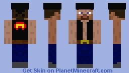 Rocker Steve Minecraft Skin