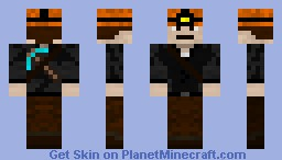 Role Playing Character - Miner (3D Headlamp) Minecraft Skin