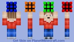 Boy with a Rubix Cube Minecraft Skin