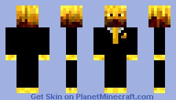 Blaze in a suit Minecraft Skin