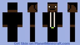 Samuel Jackson (Jules Winnfield) Minecraft Skin