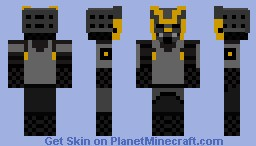 Samurai Shadow Minecraft Skin