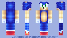 Sonic The Hedgehog Minecraft Skin - Skin para minecraft pe para descargar
