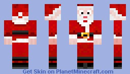 Christmas Skin (santa) Ho Ho Ho Merry Christmas Minecraft